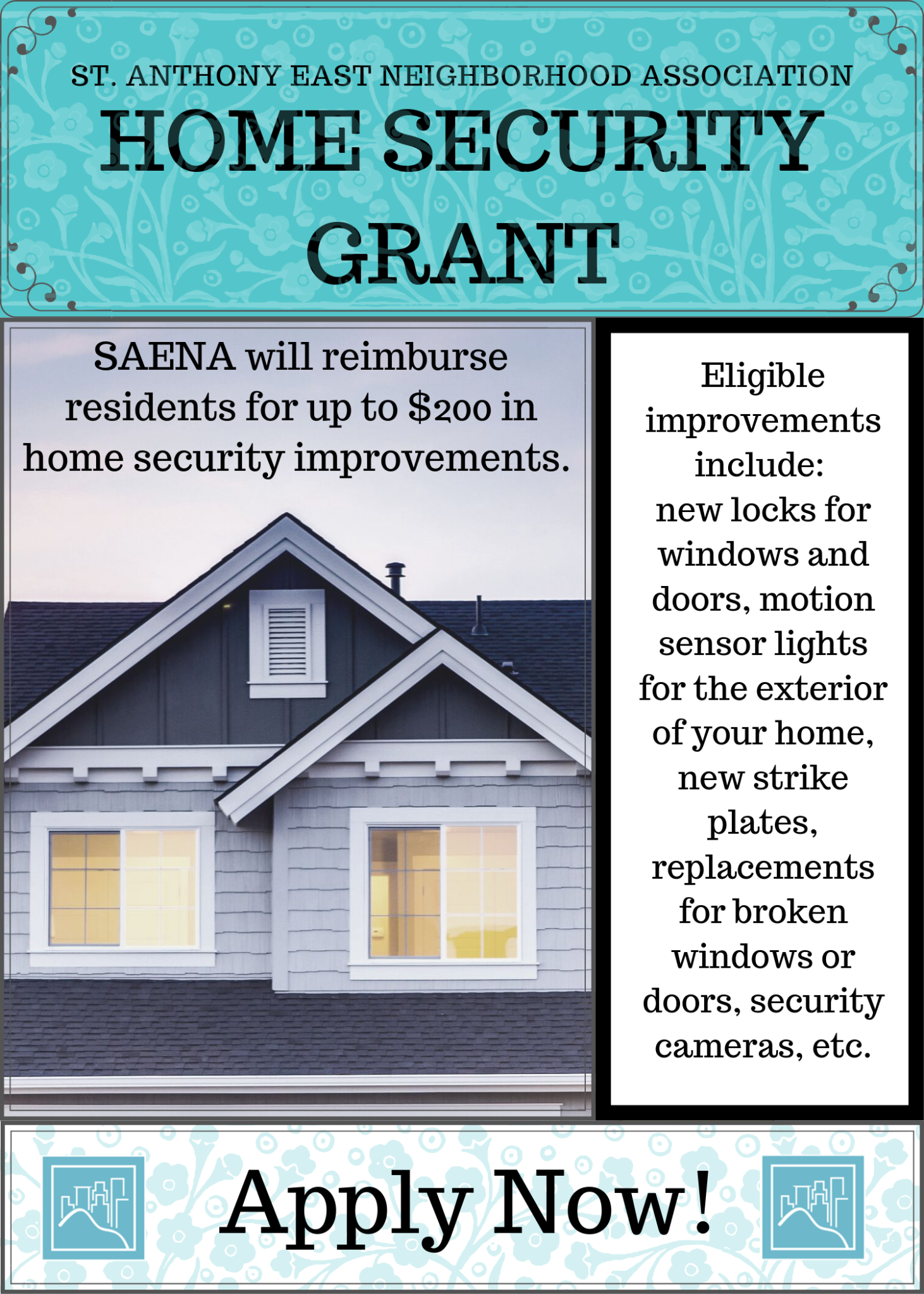 Details of the home security grant program; contact for info