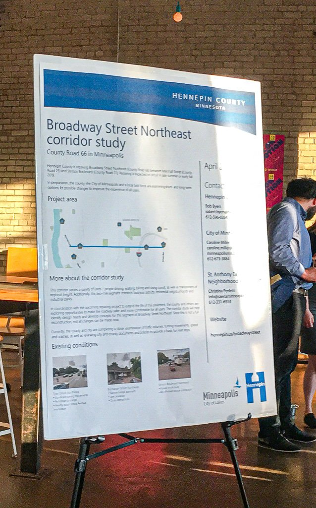A poster of the Broadway Street Northeast corridor study